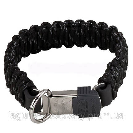 Sprenger ошейник 45см для собак с защелкой, паракорд, черный, фото 2