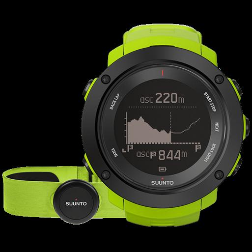 Смарт-годинник Suunto Ambit3 Vertical Lime HR (з нагрудним датчиком серцевого ритму)