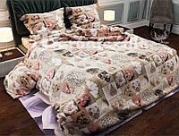 Комплект постельного белья абстракция двуспального размера