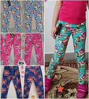 """Коттоновые брюки для девочки """"Узкачи (р.116-140)"""