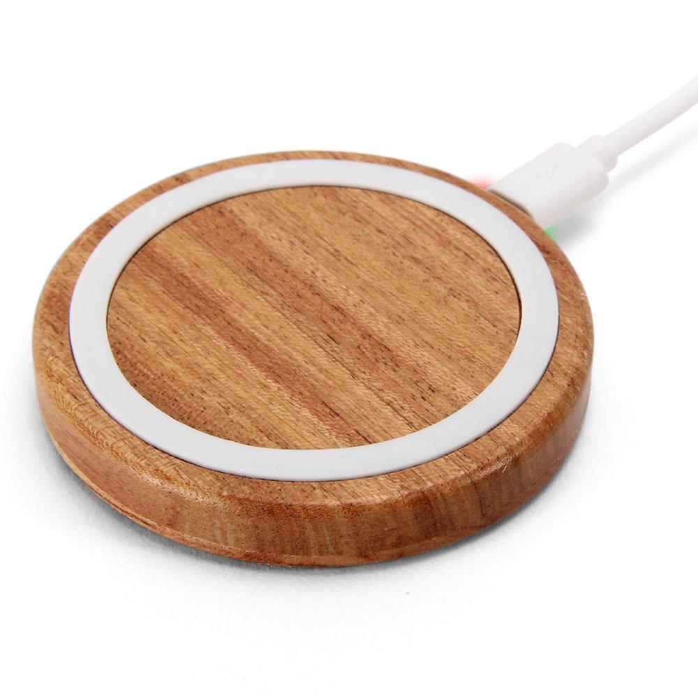 Беспроводное деревянное зарядное устройство QI Victsing