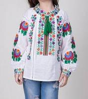 Оригинальная вышитая  блуза для девочки