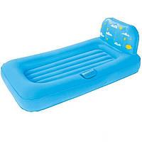 Надувная кровать детская Bestway 67496 голубая с проектором 132 х 96 см.
