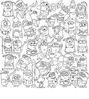 Обои - раскраски / раскраска / детское творчество Миньоны 60х60см