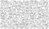 Обои - раскраски / раскраска / детское творчество Миньоны 60х100см
