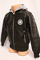 Куртка-ветровка из ЭКОКОЖи для мальчиков от 1 до 5 лет на осень. Фирма-S&D. Венгрия