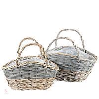 Плетеные корзины из лозы. набор 2шт.
