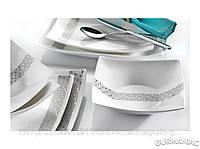 Фарфоровый столовый сервиз KARACA Мona Lisa Side 45 предметов (AZUR)