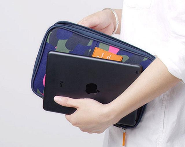 Органайзер для документов хаки синий с планшетом