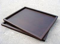 Поднос деревянный 46х36х2 см, коричневый