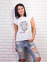 Яркая женская футболка хлопок p.42-48 VM1997-1