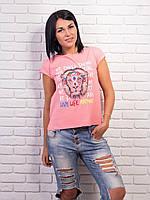 Яркая женская футболка хлопок p.42-48 VM1997-2