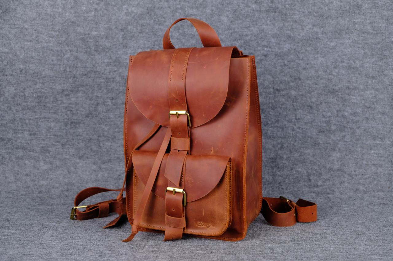 3d57fc929f6e Рюкзак из натуральной кожи |11906| Коньяк, цена 1 595 грн., купить в ...
