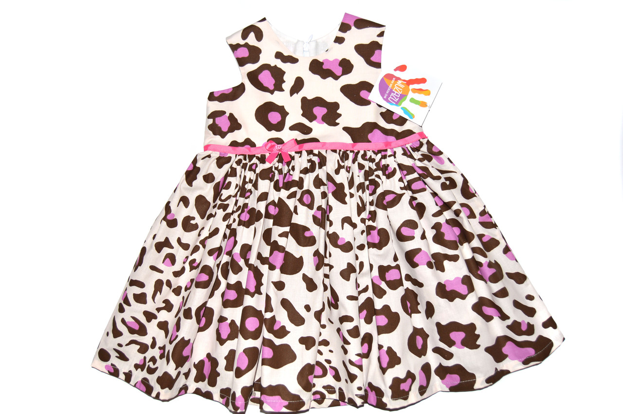 Платье детское «Фиолетовый леопард » пышный крой