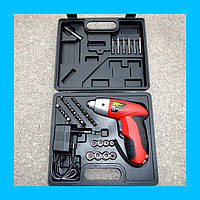 Аккумуляторный шуруповерт Cordless Screwdriver на 45 предметов (Кордлес Скридрайвер) + КЕЙС