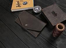 Женский кожаный кошелек ручной работы VOILE vl-lw2w-brn, фото 3