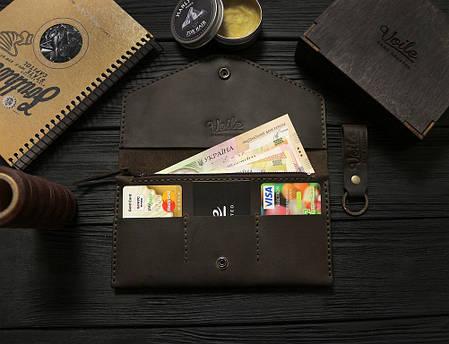 Женский кожаный кошелек ручной работы VOILE vl-lw2w-brn, фото 2