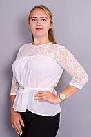 Тамара. Блуза женская супер батал. Белый.