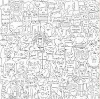 Обои - раскраски / раскраска / детское творчество Чудики 60х60см