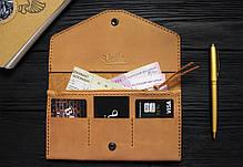 Женский кожаный кошелек ручной работы VOILE vl-lw2w-ryz-tbc, фото 3