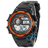 Часы мужские спортивные наручные Skmei Black/Orange (реплика)