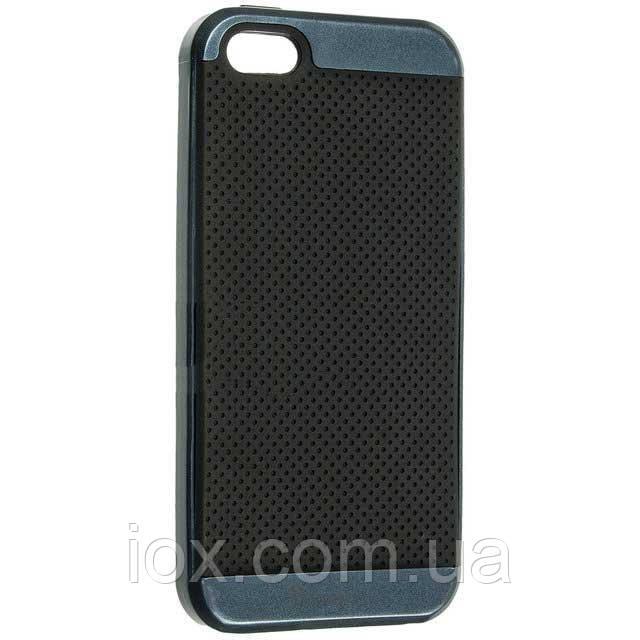 Противоударный комбинированный чехол-накладка iPaky для Iphone 5/5S синий