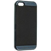 Протиударний комбінований чохол-накладка iPaky для Iphone 5/5S синій, фото 1