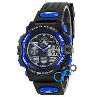 Часы наручные мужские Sport Watch Black/Blue