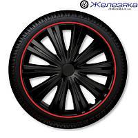 Автомобильные колпаки на колеса 4 Racing R13 GIGA R BLACK