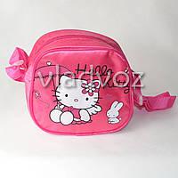 Детская сумка сумочка Hello Kitty малиновая маленькая