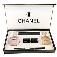 Подарочный набор Chanel 5 в 1 (духи+косметика)