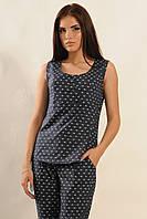 """Блуза """"Васаби"""" Ри Мари темно-синий 100% хлопок"""