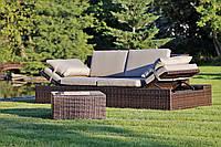 Диван для дому, саду чи терасси + столик + столик коричневий