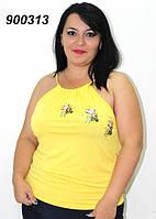 Майка большого размера, летняя 50,52,54,56, фото 1