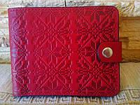 Портмоне  красное в этно стиле