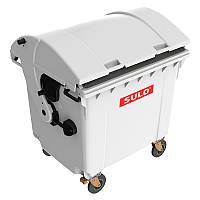 Мусорный контейнер марки SULO (1060x1370х1460 мм) на 1100 л RD, серый