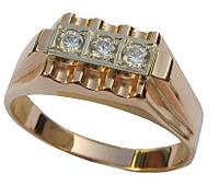 Золотое мужское кольцо Карлово