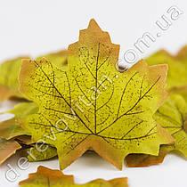 Листья осенние декоративные, салатовый клен 9.7 × 10 см, 100 шт.