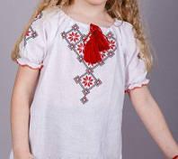 Летняя льняная вышиванка для девочки
