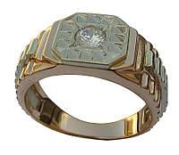 Мужское золотое кольцо Ролекс из красного золота