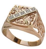Мужское золотое кольцо Астраханское