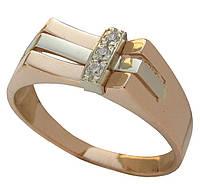 Мужское золотое кольцо со вставками