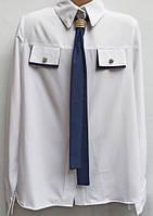 Школьная блуза с галстуком