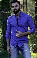 Мужская рубашка с длинным рукавом 2 цвета