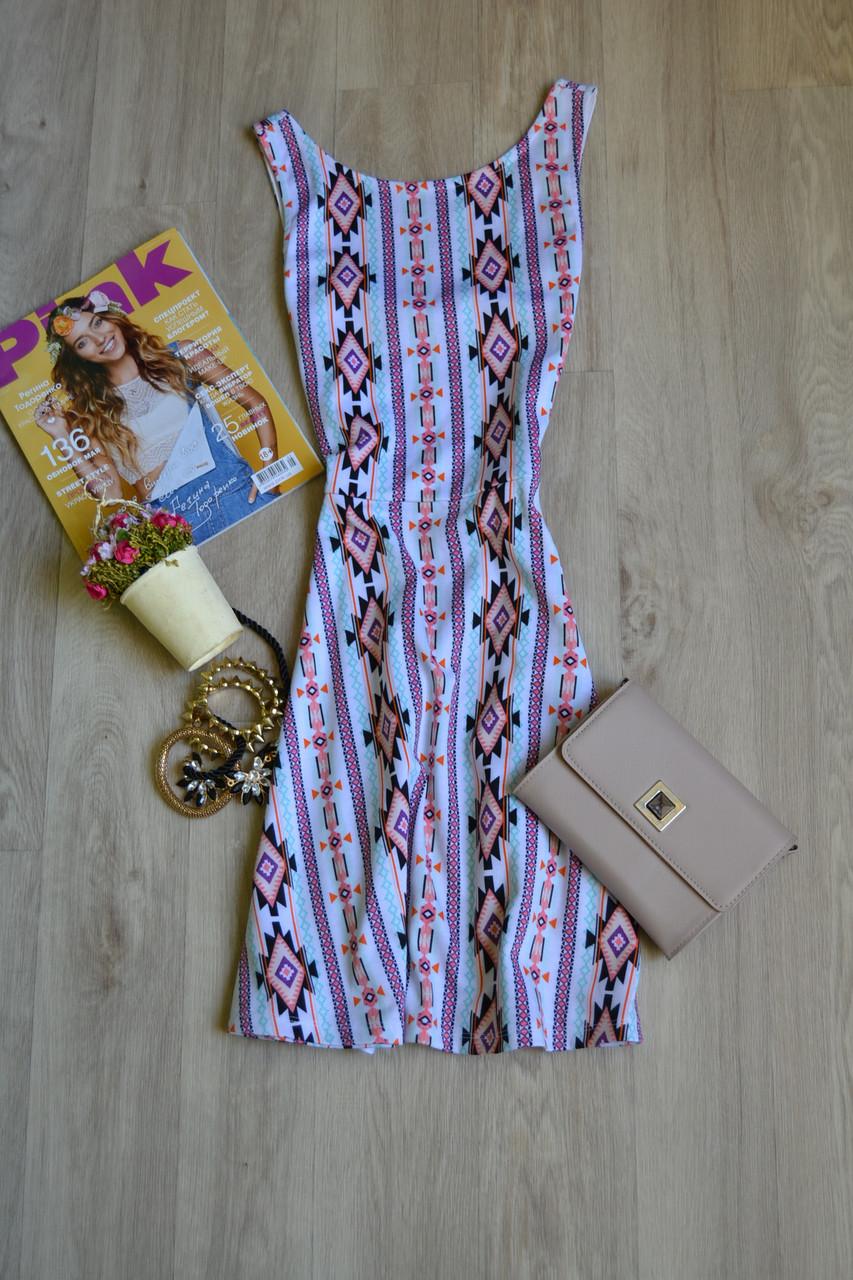 Короткое платье в принт H&M