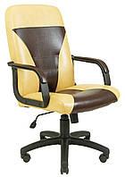 Кресло Сиеста мех., Пиастра, желтое с черным