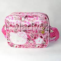 Детская сумка сумочка Hello Kitty малиновая