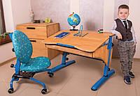 Кресло и парта для школьника, бук (разные цвета рамы)