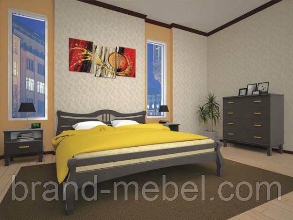 """Деревянная кровать """"Корона 1"""""""