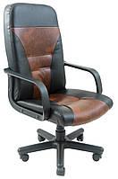 Кресло Сиеста мех., Пиастра, черное с коричневым